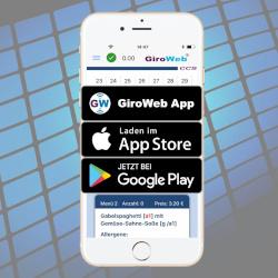GiroWeb App für Apple iOS & Google Android Smartphones, Mobil-Telefone & Tablets
