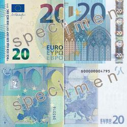 Neue Generation 20er Geldscheine